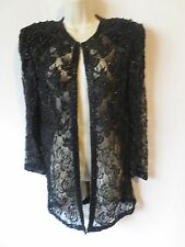 Scala PS cardigan top sheer lace beaded formal dressy