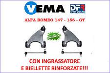 KIT BRACCI SOSPENSIONE (4PZ MODIFICATO VEMA) ANTERIORI ALFA ROMEO 147 156 GT