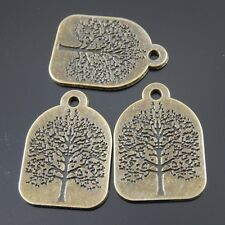 37979 Antique Bronze Tone Alloy Tree Pattern Charms Pendant 27*22*2mm 12PCS