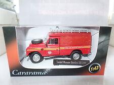 "Cararama CR039 1/43 O Scale Land Rover III 109""Fire & Rescue Ladders Beacon MIMB"