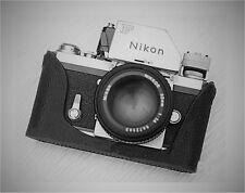Custodia in vera pelle metà per Nikon F (Nero) - SPLENDIDA! - Nuovo di Zecca