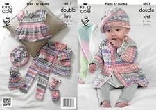 King Cole 4011 Knitting Pattern Baby Set in King Cole Cherish DK