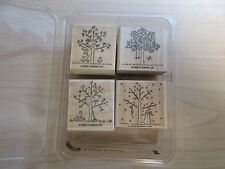 "Stampin up ""A Tree for All Seasons"" rubber stamp set--retired set in 2000--NIP"