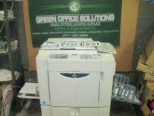 Riso MZ1090 High Speed Digital Duplicator Stand & Manual 2 COLOR  PRINTS