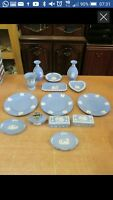 Wedgwood Blue Jasper Ware Good Collection of Various Pieces inc. Boxes Vases etc