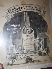 Calvert Reserve Whiskey Advertising George Bares illustrator art American Taste
