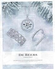 PUBLICITE ADVERTISING 2011 DE BEERS jewellery joaillerie en diamants