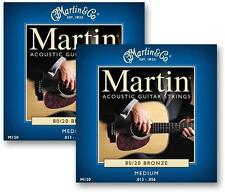 Martin Acoustic M150 x 2 Sets / Pack Medium 13 - 56 Guitar Strings 80/20 Bronze