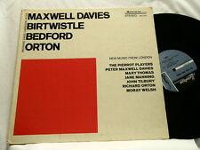 PETER MAXWELL DAVIES Harrison Birtwistle David Bedford New Music From London LP