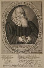 c1665 Ayerschöttel Kupferstich-Porträt van Somer Theologe Pfarrer Nürnberg