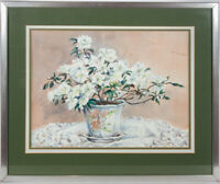 Joan Wilmoth - 20th Century Watercolour, Still Life of White Flowers