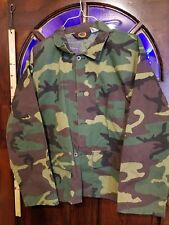 Vintage 1980s Camouflage Hunting Shirt Woodland Camo  Blue Bill Red Head  wb9