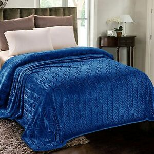 Whale Flotilla Flannel Fleece King Size Bed Blanket, Soft Velvet Bedspread Plush