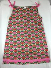 Hanna Andersson Green, Pink & Red Sleeveless Dress Size 130 US Size 8-10
