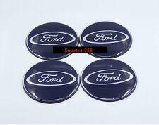 4 x Ford DARK Blue Sticker Only Alloy Centre Cap 3D Sport 65mm Fiesta Focus
