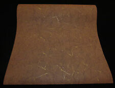 13445-30-8) schicke Vliestapete Knitteroptik Lederoptik braun mit gold