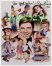JERRY LEWIS SIGNED AUTOGRAPHED 8x10 PHOTO WITH ALL HIS CHARACTERS LEGENDARY