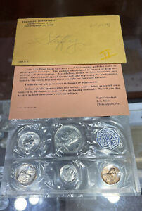 1964 Proof Set 90% Silver Kennedy Washington US Mint Envelope/Insert OGP