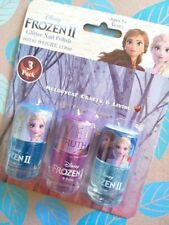 DISNEY FROZEN II 2 Kids Glitter Nail Polish Make Up Makeup 3/pk,❄ Elsa & Anna 🍁