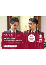 CIMA F1 Financial Reporting and Taxation: Operational paper F1: Passcards, Very