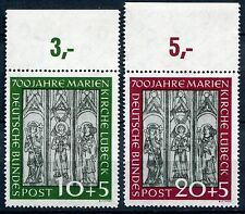 Bund Nr. 139/140 (Marienkirche) mit Oberrand sauber postfrisch