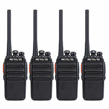 4Pcs Retevis RT24 Walkie Talkie 0.5W PMR446 Two Way Radio UHF USB with Earpiece