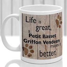 Petit Basset Griffon Vendeen dog mug, ideal present for dog lover