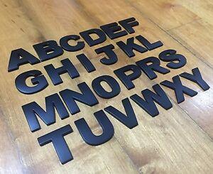 5 Piece Car Auto 3D Matte Black Letters Emblem, Badge Sticker TOP quality