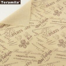 Teramila Home Textile Printed Words Cotton Linen Fabric Sewing Material 50x150cm