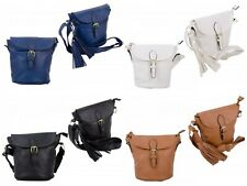 Nicole Brown Womens PU Leather Cross Body Handbag Ladies Shoulder Bag Purse