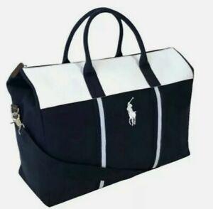 NEW Ralph Lauren Polo Navy-White Travel/Gym Bag Holdall
