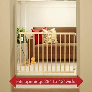"North States 42"" Wide Stairway Swing Baby/Pet Gate: Ideal for Standard stairways"