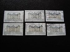 SUEDE - timbre yvert et tellier n° 1666 x6 obl (A29) stamp sweden (T)