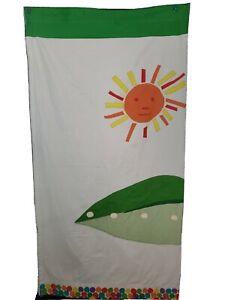 Pottery Barn Kids PBK World Eric Carle Hungry Caterpillar Cotton Shower Curtain