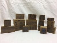 Vintage Toy 16 Wooden Children's Building Blocks
