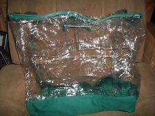 1 New Zippered Clear Storage Plastic Bag Size 21 X 22 X 12