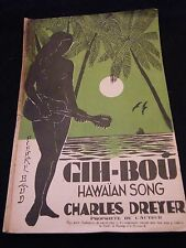 Partitura Gih bou Hawaian Canción Charles Dreyer Music Sheet