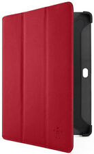 "Samsung Galaxy Tab 2 10.1"" Sleeve Case Belkin Leather TriFold Folio Stand Red"