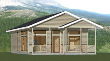 24x32 House -- 2 Bedroom 2 Bath -- PDF Floor Plan -- 768 sq ft -- Model 1C