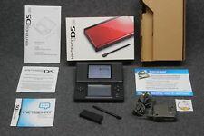 Nintendo DS Lite - Crimson Red Black - Complete with Box (USG-001) Tested