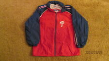 Used Starter Mens Philadelphia Phillies Zipper Jacket With Hood Large MLB