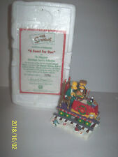 A Feast for one From The Simpson Christmas Express train in box & coa