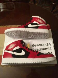 *New* [sz.12W U.S.] Nike Wmns Air Jordan 1 Mid Gym Red/White-Black BQ6472-601