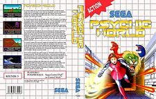 Psychic World Sega Master System Replacement Box Art Case Insert Cover Scan
