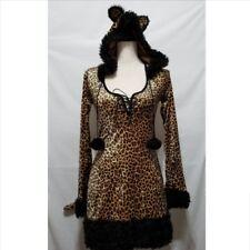 Dreamgirl Cheetah Luscious Womens Halloween Costume S Hooded Dress Leopard Print