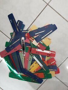 100x Elba Heftzunge Schnellhefter Metall messingfarben lackiert Hefter