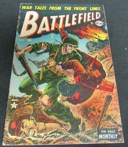 Battlefield #9 (1953) Golden Age Atlas Comics Scarce G/VG 3.0 JM103