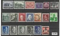 #6190  Stamp set Third Reich occupation of Poland during WWII General Government