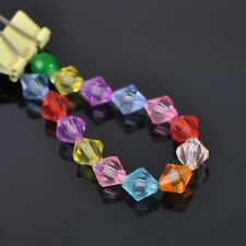 4mm~20mm Faceted Bicone Random Mixed Acrylic Spacer Loose Beads DIY Findings