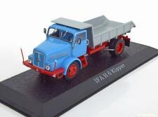 1:43 Atlas IFA H6 tipper truck blue/red/silver